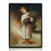 Девочка с полевыми цветами